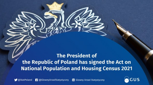 The President of Poland Andrzej Duda adopted the Act of August 9, 2019 on the National #Census 2021