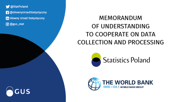 Statistics Poland and World Bank to cooperate more closely on data collection and processing