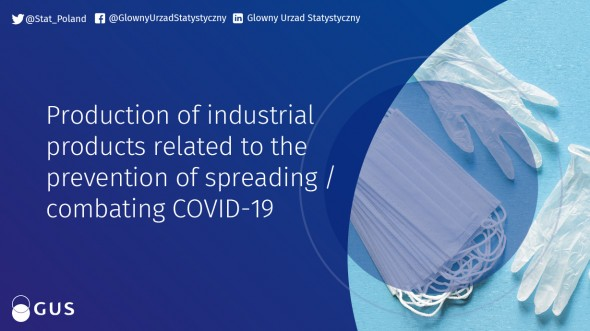 Production of industrial products related to  the prevention of spreading / combating COVID-19