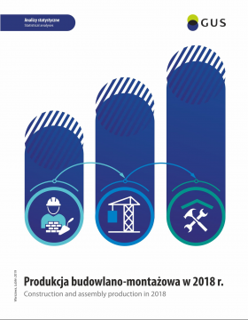 Cover of the publication Construction and assembly production in 2018