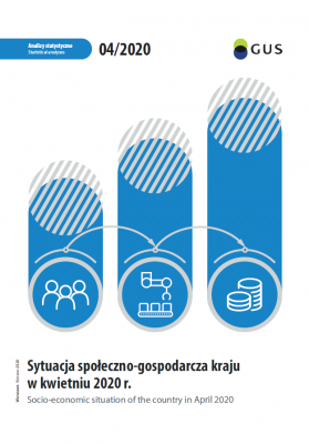 Cover of the publication Socio-economic situation of the country in April 2020