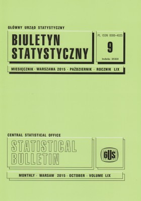 Statistical Bulletin No 9/2015 - cover publication