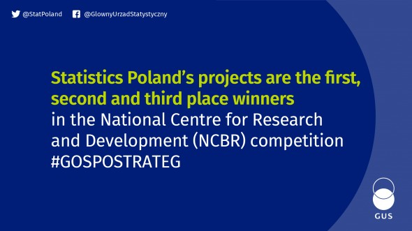 Statistics Poland's projects are winners in the National Centre for Research and Development (NCBR) competition #GOSPOSTRATEG