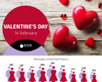 Infographic - Valentine's Day (14 February) Foto