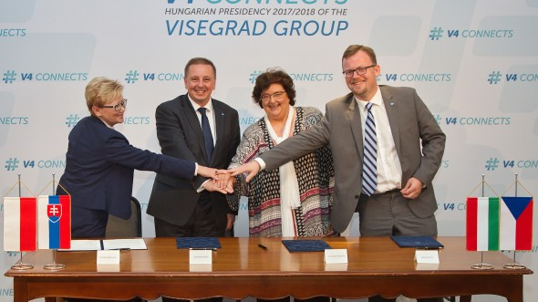 Leaders of the National Statistical Institutes of the Visegrád Group (V4) Signed a Memorandum  of Understanding on Co-operation