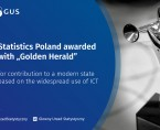 "Statistics Poland awarded with ""Golden Herald"" Foto"