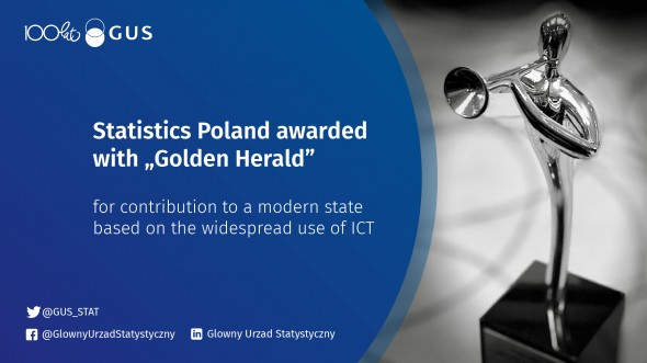 "Statistics Poland awarded with ""Golden Herald"""