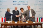Leaders of the National Statistical Institutes of the Visegrád Group (V4) Signed a Memorandum  of Understanding on Co-operation Foto