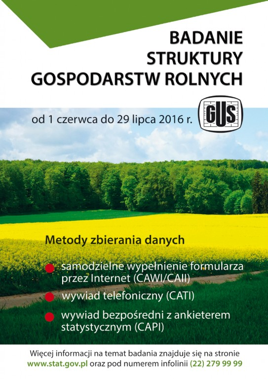 Badania statystyczne z zakresu rolnictwa 01.06-29.07.2016